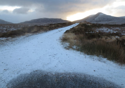 Snowy boreens, Meenderry bog, Donegal, Ireland