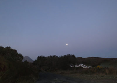 Meenderry moon, Donegal, Ireland