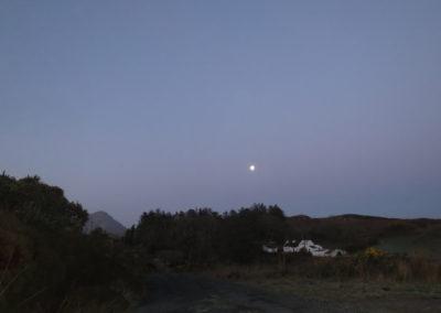 Meenderry moon, Donegal, Ireland