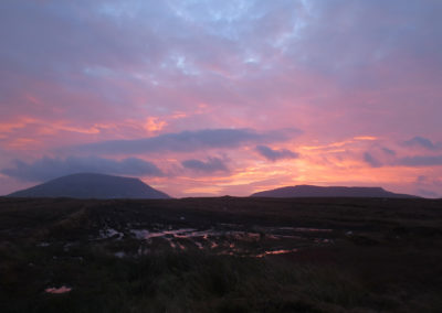 Sunrise in Meenderry bog, Donegal, Ireland